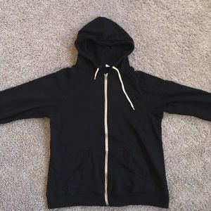 Other - Basic Black Zip Up Hoodie